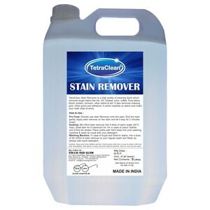 TetraClean Fabric Stain Remover with Advanced Formula for Clean & Spotless Clothes Stain Remover (5L)