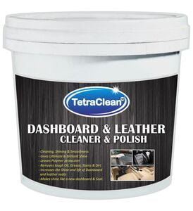 TetraClean Cream Daboard Interior Car Polish sutable for Dashboard, Leather, Metal Parts, Chrome Accent (250gm)