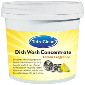 TetraClean Superior Quality Dish Wash Concentrate Powder (500gm) for Formulation of 10 L Dish Wash Gel with Lemon Fragrance